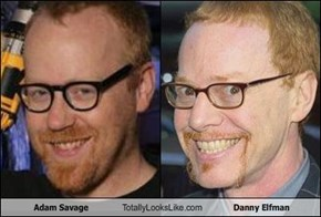 Adam Savage Totally Looks Like Danny Elfman