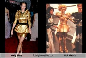 Molly Sims Totally Looks Like Dot Matrix