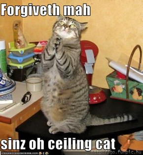 Forgiveth mah  sinz oh ceiling cat