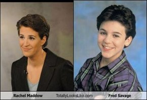 Rachel Maddow Totally Looks Like Fred Savage