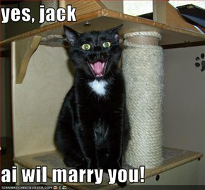 yes, jack  ai wil marry you!