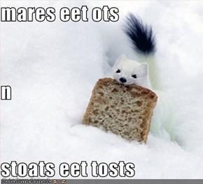 mares eet ots n stoats eet tosts