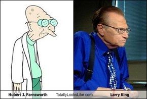 Hubert J. Farnsworth Totally Looks Like Larry King