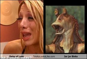 Daisy of Love Totally Looks Like Jar jar Binks