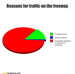 Reasons for traffic on the freeway