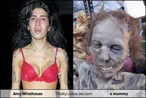 Amy Winehouse Totally Looks Like a mummy