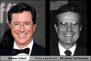 Stephen Colbert Totally Looks Like JFK advisor Ted Sorensen