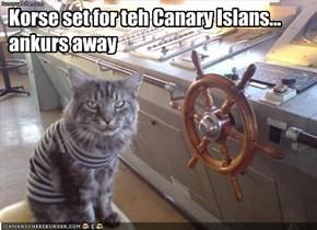 Korse set for teh Canary Islans... ankurs away