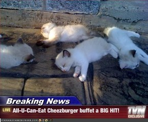 Breaking News - All-U-Can-Eat Cheezburger buffet a BIG HIT!