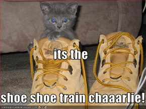 its the shoe shoe train chaaarlie!