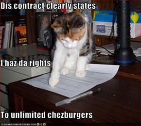 Dis contract clearly states I haz da rights To unlimited chezburgers