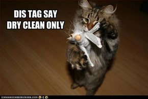 DIS TAG SAY DRY CLEAN ONLY