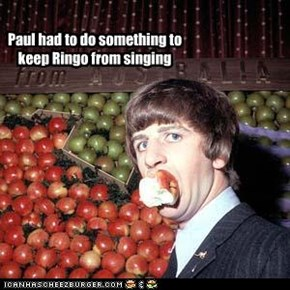 Paul had to do something to keep Ringo from singing