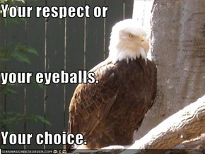 Your respect or your eyeballs. Your choice.