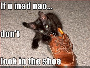 If u mad nao... don't look in the shoe