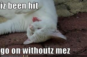 iz been hit  go on withoutz mez