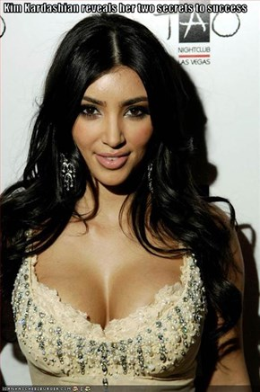 Kim Kardashian reveals her two secrets to success