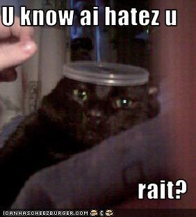U know ai hatez u  rait?
