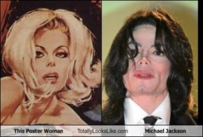 This Poster Woman Totally Looks Like Michael Jackson