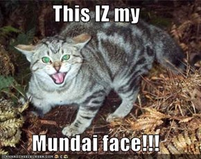 This IZ my   Mundai face!!!