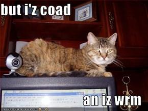 but i'z coad  an iz wrm