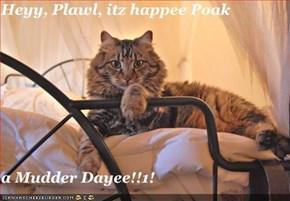 Heyy, Plawl, itz happee Poak  a Mudder Dayee!!1!