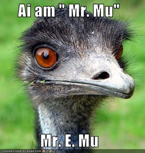 "Ai am "" Mr. Mu""  Mr. E. Mu"