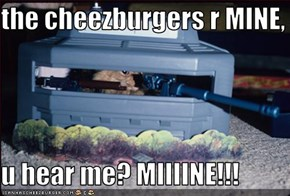 the cheezburgers r MINE,  u hear me? MIIIINE!!!