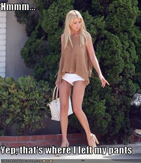 Hmmm...  Yep, that's where I left my pants