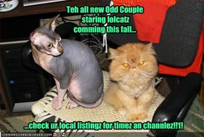 Teh all new Odd Couple  staring lolcatz comming this fall...