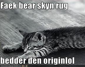 Faek bear skyn rug  bedder den originlol