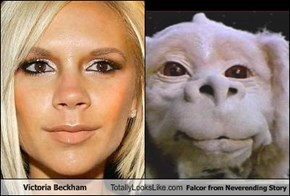 Victoria Beckham Totally Looks Like Falcor from Neverending Story