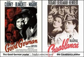 The Good German poster Totally Looks Like the Casablanca poster