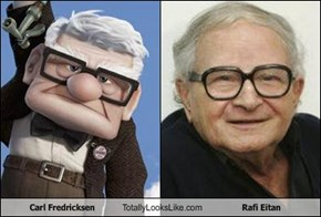 Carl Fredricksen Totally Looks Like Rafi Eitan