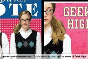 girl on cover of Popular Vote Totally Looks Like girl on cover of Geek High