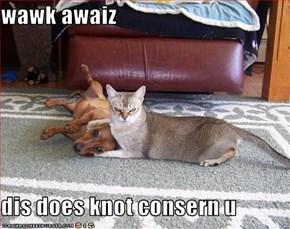 wawk awaiz  dis does knot consern u