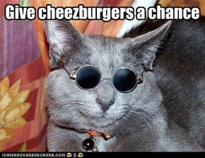 Give cheezburgers a chance