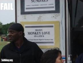 Frozen Monkey Love on a Stick
