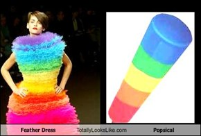 Feather Dress Totally Looks Like Popsical