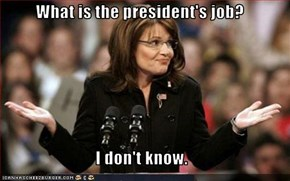 What is the president's job?  I don't know.
