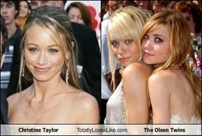 Christine Taylor Totally Looks Like The Olsen Twins