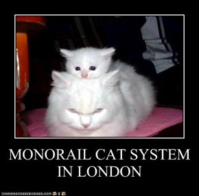 MONORAIL CAT SYSTEM IN LONDON