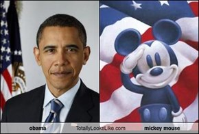 obama Totally Looks Like mickey mouse