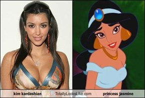 kim kardashian Totally Looks Like princess jasmine