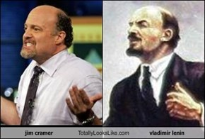 jim cramer Totally Looks Like vladimir lenin
