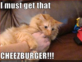 I must get that  CHEEZBURGER!!!