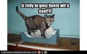 Iz redy tu goez hoem wif u nao!!1!