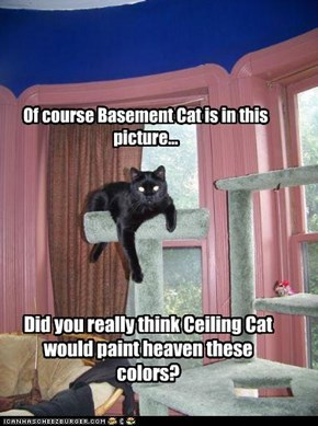 Of course Basement Cat is in this picture...