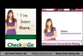 Girl from Check n Go Totally Looks Like Briana from dating site