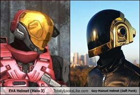 EVA Helmet (Halo 3) Totally Looks Like Guy-Manuel Helmet (Daft Punk)